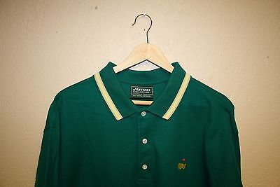 Mens The Masters Collection Jacket Green Golf Polo Shirt Large L