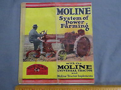 Vintage MOLINE Universal Tractor sales Brochure Catalog Power Farming 1910's
