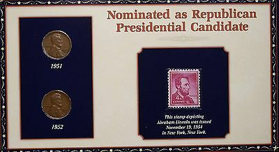 Nominated as Republican Presidential Candidate 2 Penny & Stamp Set Free S/H