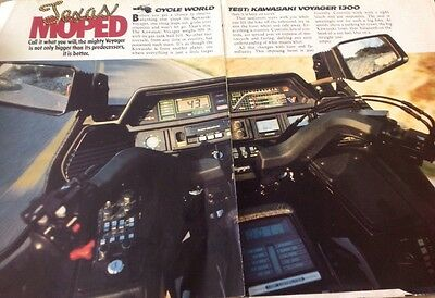 7 Pages Race Test Article For 1983 Kawasaki Voyager 1300 Street Motorcycle