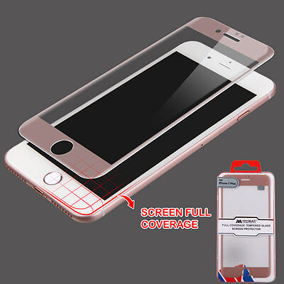 For Apple iPhone 7 Plus 5.5 Full Coverage Tempered Glass Screen Protector Edge