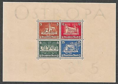 German Reich stamps 1935 MI Bloc 3 OSTROPA  MLH  VF  CAT VALUE $1300