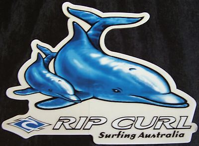 Rip Curl Surfing Company Sticker Blue Dolphins Surfing Australia