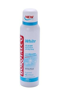 H.Roberts & Co. Borotalco, Deo Spray White with Microtalc, 150ml