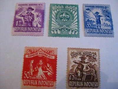 Indonesien - Indonesia,Scouts,1955 Nationales Pfadfindertreffen,ungebraucht*,