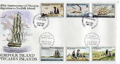 1981 Norfolk Island 125th Anniversary Pitcairn Migration (Both Countries) FDC