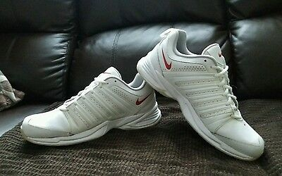 Mens Nike Cross Trainers. White Red Leather. Size Uk 9. Eur 44.