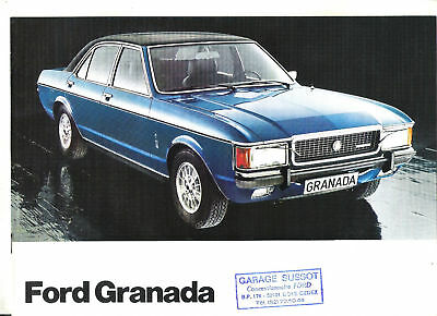 FORD GRANADA - 1977 / catalogue brochure prospekt dépliant katalog catalogo