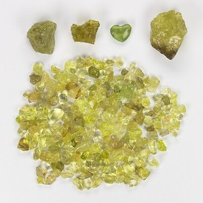Cadingems 128.10Ct Natural Chrysoberyl Rough Speciment 2.5Mm To 20.2Mm - Brazil