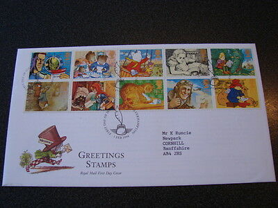 1994 GREETINGS - MESSAGES SG 1800-09 Booklet Pane First Day  PENN POSTMARK
