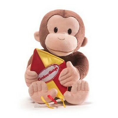 "Gund Monkey -  11.5"" Curious George  With Kite - Nwt"