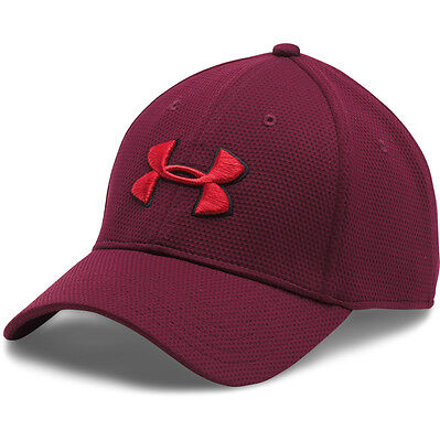Under Armour Blitzing II Stretch Fit Cap Basecap Mütze Kappe maroon 1254123-609