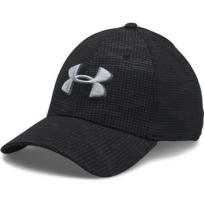 Under Armour Print Blitzing Stretch Fit Basecap Kappe black gray 1273197-004 Cap