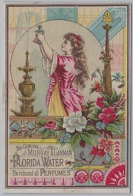 19th Century Aesthetic Movement Trade Card for Florida Water Perfumes