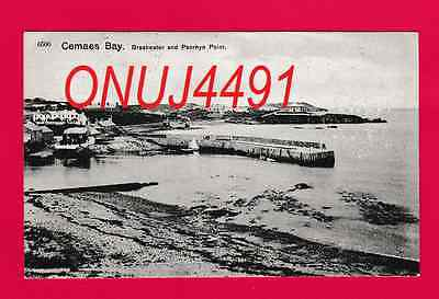 Dated 1910. Cemaes Bay . Breakwater and Penrhyn Point, Anglesey