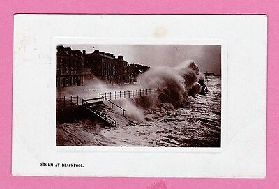 """Dated 1908, """"STORM AT BLACKPOOL"""", Lancashire"""