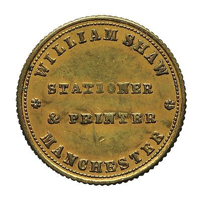 Manchester William Shaw Unofficial Farthing Token