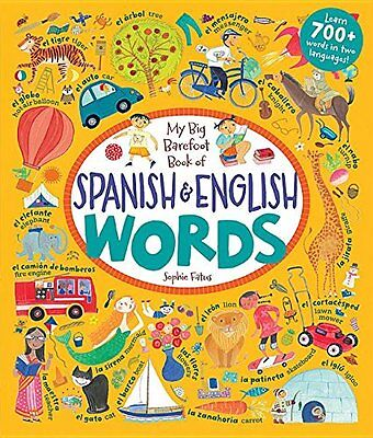 My Big Barefoot Book of Spanish and English Words,HC,null - NEW