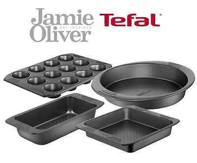 Tefal Jamie Oliver Carbon Steel Durable Non Stick Bakeware Set in Gift Box
