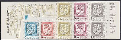 157) Finland - Suomi 1987 - Complete Booklet  Mnh  - Coat Of Arms  Stamps