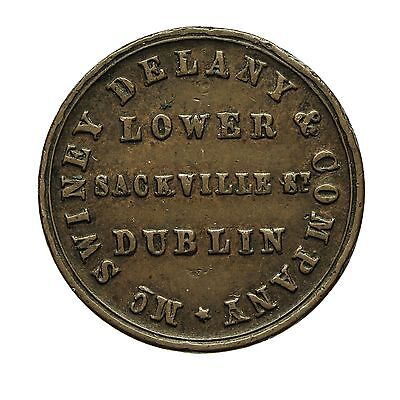 IRELAND DUBLIN McSWINEY DELANY & Co UNOFFICIAL FARTHING TOKEN 1853