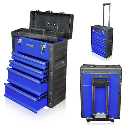 319 US PRO Tools Blue Mobile Roller Chest Trolley Cart Storage cabinet Tool Box