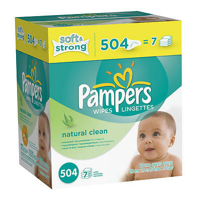 Pampers Natural Clean Baby Wipes Refill - 504 Count