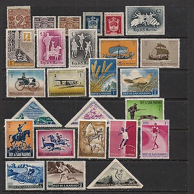 SAN MARINO: small lot of stamps [1] -- mint --