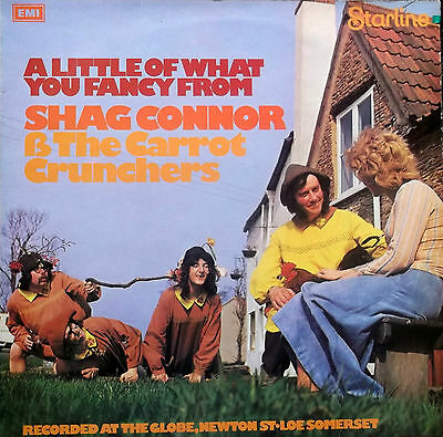 SHAG CONNOR & THE CARROT CRUNCHERS A Little Of What You Fancy LP 1974 EX