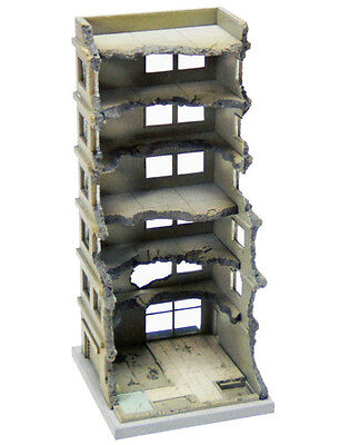 Tomytec (Building 151) Hi-Rise Under Demolition A 1/150 N scale