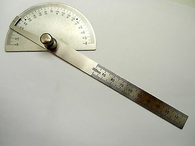 Angle measurer measure Stainless steel 0 - 180 Deg Ruler protractor