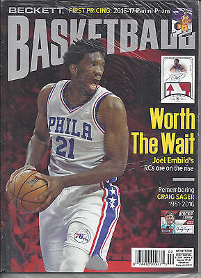 Joel Embiid Cover Beckett NBA Price Guide February, 2017 Issue # 293