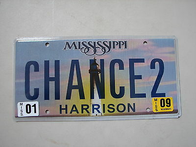 "Ms Vanity License Plate ""chance 2"" Win Lottery Gamble Raffle  Ticket Take A Shot"