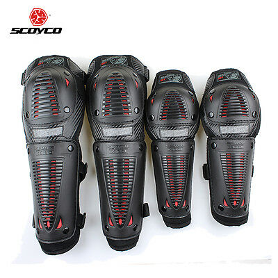 Adult Scoyco Motorcycle Racing Riding Elbow Knee Pads Armor Protector Guard Gear