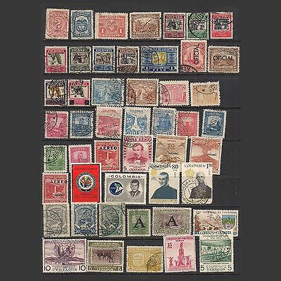 COLUMBIA:  small lot of stamps – used --