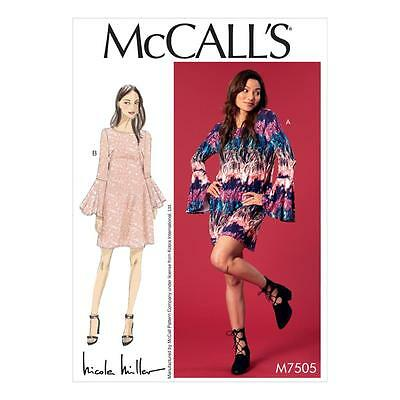 McCALL'S SEWING PATTERN MISSES' LOOSE-FITTING DRESSES DRESS SIZE 6-22 M7505