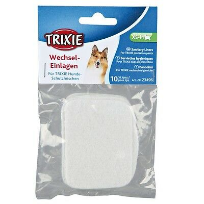 New - Trixie Spare Pads For Dog Pants - 3 Sizes - 10 In A Pack