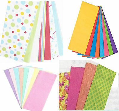Tissue Paper  Many color combinations  20ct, 44 ct, 50 ct, 80 ct, 100 ct    NEW