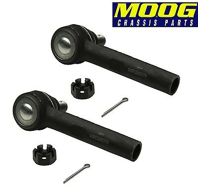 Set of 2 Front Outer Steering Tie Rod Ends Moog for Lexus GX470 Toyota 4Runner