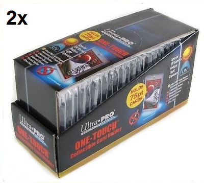 50 ULTRA PRO One Touch Magnetic Holders 75pt UV Gold Magnet New