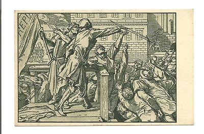 Old 1948 East German DDR postcard; 100 Year's Revolution from 1848 - death; S6
