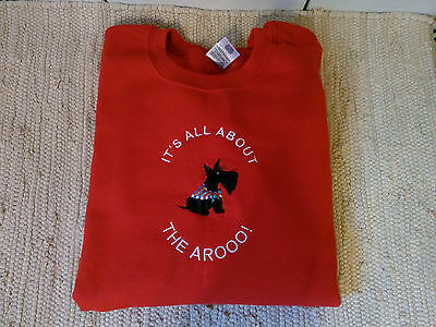 Scottie Scotty Dog Adult Red Sweatshirt All About the Arooo