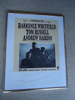 Tom Russell Barrence Whitfield Gig Poster 1994 Vintage Original 23 Yrs Old Rare