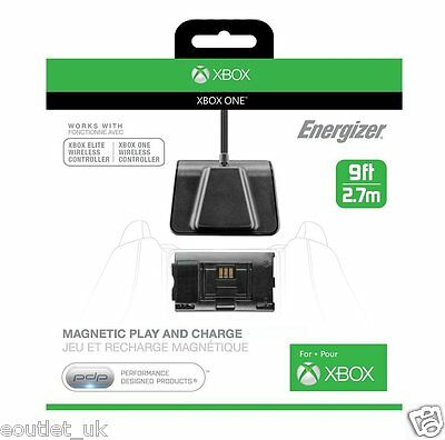 Energizer Magnetic Play & Charge Cable + Recharge Battery for Xbox One BRAND NEW