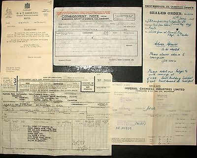 WW2 LNER  ephemera  inc BILLHEADS GOVERNMENT TRAFFIC ESSENDINE SLEIGHTS x 5