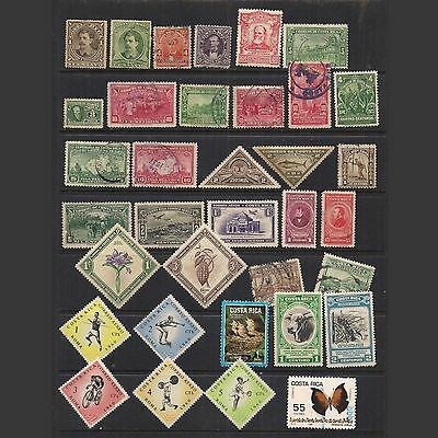 COSTA RICA: small lot of older stamps -- used --