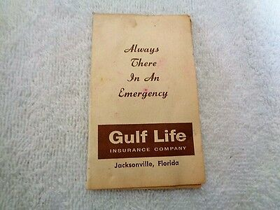Vtg Defunct Gulf Life Insurance Jacksonville Florida Emergency Sewing Needle Kit
