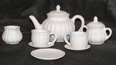 Cross Country Ceramic Bisque Childs Tea Set Ready to Paint