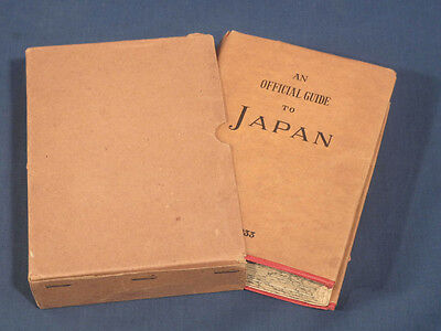 An Official Guide to Japan 1933 Maps Dust Jacket Box Wood Block Print Railways