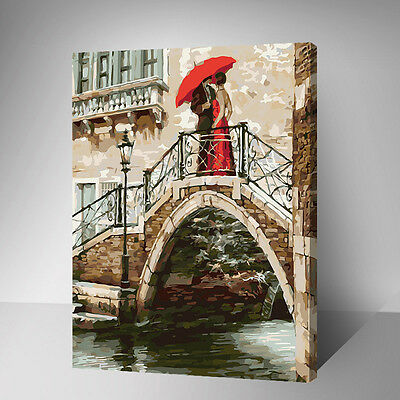 Painting by Number kit Chance Meeting On The Arch Bridge Engagement DIY YZ7425